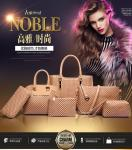 Womens Girl Faux Leather Fashion Messenger Handbag Lady Shoulder Bag Totes Purse Metal Holder