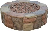 China gas fire pit, round fire pit, stone fire pit on sale