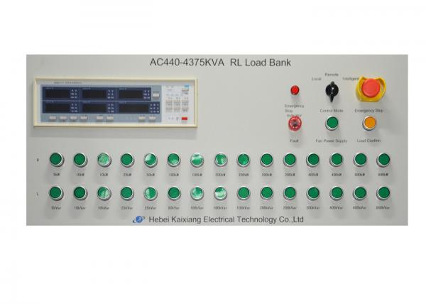 440 V 3 Phase 4 Wire Reactive Load Bank Constant Power With