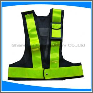 China LED traffic safety vest with pocket on sale