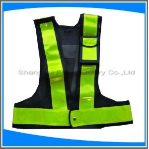 China LED traffic safety vest with pocket on sale
