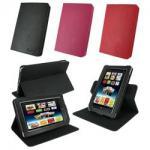 黒いピンクの赤PUの革は保護バーンズ・アンド・ノーブルの隅カバー箱を回します