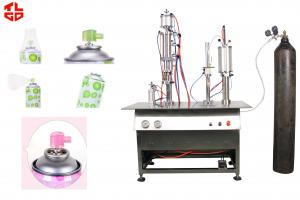 China Semi Automatic Aerosol Filling Machine For Breathing Fresh Air Spray Can on sale
