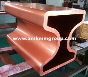China Beam blank copper mould tube for CCM, copper mould tube for beam blank continuous casting machine on sale
