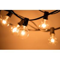 Patio Lights G40 Globe Party Christmas String Light,Warm White 25Clear Vintage Bulbs 25FT, Outdoor Backyard Garland