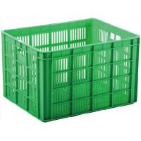 China Mesh Type  Plastic Storage Crate Lightweight Movable Easy Lifting And Carrying on sale