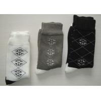 Soft Argyle Mens Work Boot Socks , Winter Fleece Socks With Hand Link
