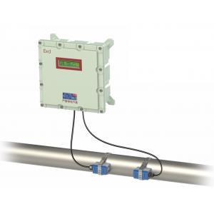 China Portable Transit Time Flow Meter , Stainless Steel Pipe Sea Water Flow Meter on sale