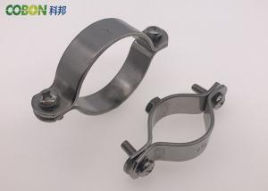 China Welding Type Stainless Steel Pipe Clamps Hex Nut M8 Or M10 Without Rubber on sale