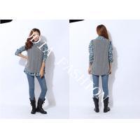 China Spring / Autumn Ladies Crew Neck Sweaters sleeveless Irregular Bottom Sweep on sale
