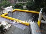 New Design Inflatable Water Football Pitch,Inflatable Water and Soap Football Playground Yellow and Black Color