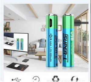 China AAA Rechargeable Lithium Batteries 1.5V 400mAh Capacity Cylinder Shape Durable on sale