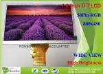 High Brightness 7.0 Inch Industrial LCD Screen Resolution 800x480 LCD Display with 50pin RGB Interface
