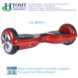 China 2016 New product Htomt TUV UL CE FCC ROHS certificated safety 2 wheel electric balance hoverboard with samsung battery on sale