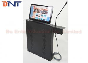 China Aluminum alloy LED / LCD Monitor Screen Lift with Conference Microphone System on sale
