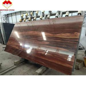 China Factory prices polished wood texture marble panel wooden grain red marble floor tile wholesale