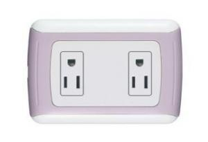 China 10A 250V / 15A 127V 2gang American design electrical wall socket with CE ceritficate on sale