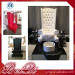 china factory wholesale Popular high back throne pedicure chair spa luxury white color