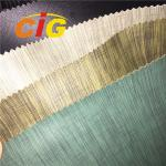 0.6mm - 1.2mm Thick Linen PVC Artificial Leather For Sofa / Car Seat