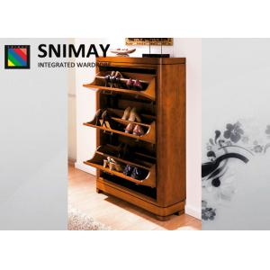 China Melamine Bedroom Furniture Shoe Storage Cabinets With Metal Handles on sale