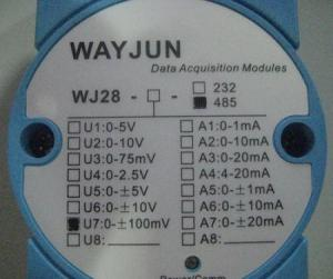 China 8 inputs channel Current/Voltage signal to RS485/232 Converter on sale