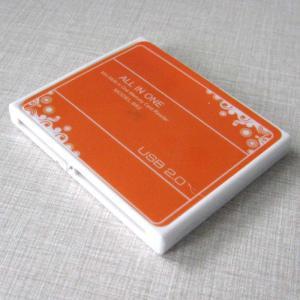 China Slim orange usb 2.0 memory card reader with sd mmc m2 t-flash mini sd for pc laptop on sale
