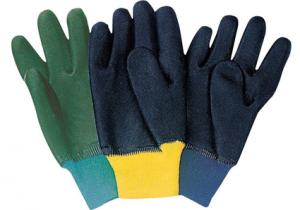 China women / man PVC Coated knitted wrist cuff Chemical Protective Gloves / Glove 51203 on sale