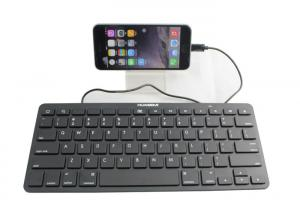 China Wired Ultrathin Ipad Keyboard Portable With 8 Pin Connectors on sale