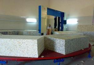 China Auto Circle Horizontal Sponge Cutting Machine For Square Foam Block Digital Control on sale