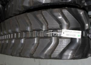 China Kubota and komatsu mini excavator rubber track with size 300x52,5x80 for K028 / PC27MR supplier