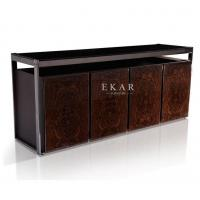 China Contemporary Luxury Style Leather High Gloss Veneer Modern Sideboard Cabinet on sale