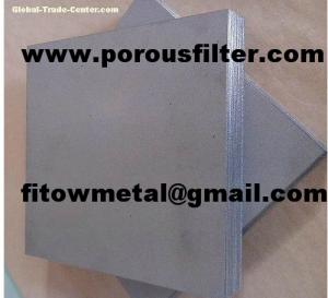 China Titanium powder sintered hydrogen fuel cell anode plates on sale