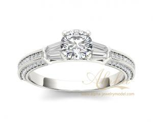 China 925 Sterling Silver CZ Diamond Wedding Rings | www.alpha-jewelrymodel.com on sale