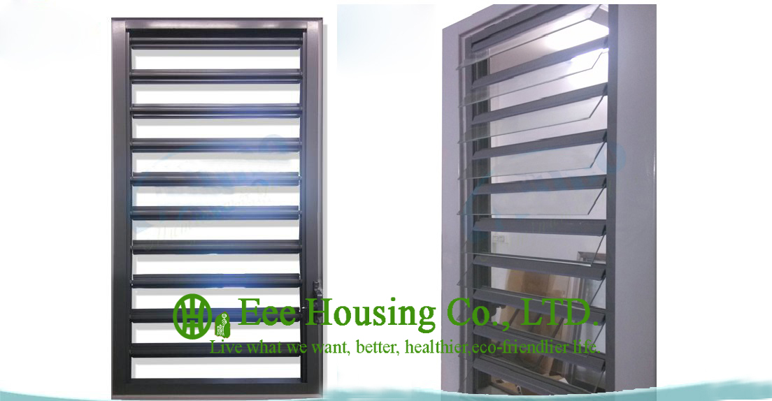 Hurricane Proof Aluminum Glass Louvered Windows With Removable