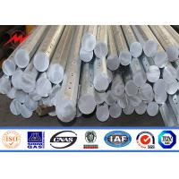 12m Africa untility poles galvanized steel poles with 3 levels of arms
