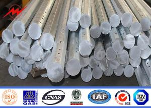 China 12m Africa untility poles galvanized steel poles with 3 levels of arms on sale