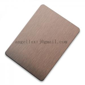 China PVD coating 304 bronze color hairline stainless steel sheet on sale