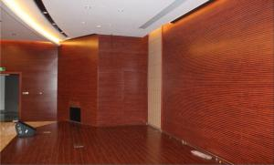 China Customized Church Perforated Wood Acoustic Panels Wall Cladding Panels on sale
