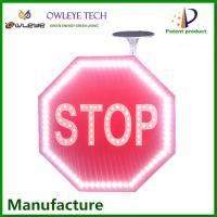 OEM ODM solar panel led illuminated traffic signs and symbols 2MM ultra thin solar traffic sign