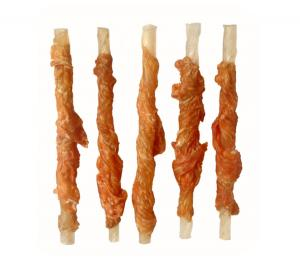 China Natural rawhide twist wrap chicken on sale