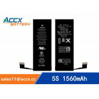 ACCX brand new high quality li-polymer internal mobile phone battery for IPhone 5S with high capacity of 1560mAh 3.8V