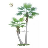 China UVG PTR047 various high quality artificial palm trees wholesale with PU fan coconut leaves on sale
