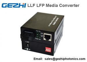 China Fiber Optic Media Converter BIDI WDM 10/100/1000M 1310/1550 20km LLF LFP on sale