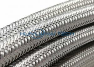 China Knitted Wire Steel Braided Hose Sleeve , 304 Stainless Steel Wire Sleeve on sale
