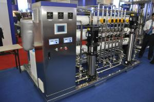 China Stainless Steel Double RO Water Purification Machines AC220V / AC380V on sale