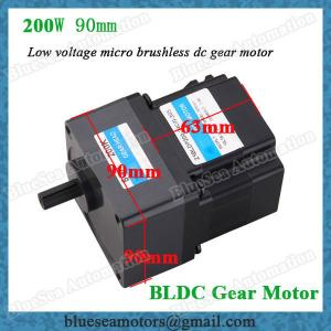 China 24V, 36V, 48V, 200W low voltage brushless DC gear motor ratio 5:1 on sale