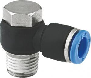 China One Touch Pneumatic Hose Fitting Tube Fitting 90 Degree Banjo Elbow BSPT Threads on sale
