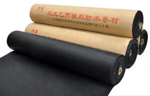 China EPDM Waterproof membrane EPDM Rubber Waterproof Roll on sale