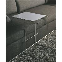 China White Tempered Glass End Table , Modern Glass Metal Sofa Side Table , Smart sofa tables on sale