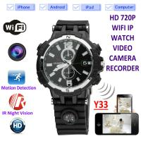 China Y33 8GB 720P WIFI IP Spy Watch Camera Home Security Smart  Remote CCTV Video Monitor IR Night Vision Nanny Baby Monitor on sale